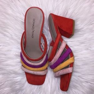 Donald J Pliner Multi Colored Heeled Sandals